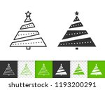 christmas tree black linear and ... | Shutterstock .eps vector #1193200291