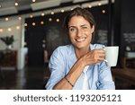 portrait of beautiful mature... | Shutterstock . vector #1193205121