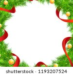 christmas tree branches frame...   Shutterstock .eps vector #1193207524