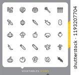vegetables  modern line ... | Shutterstock .eps vector #1193207704