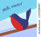 seasonal card with bird and... | Shutterstock .eps vector #1193208487