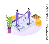 business people isometric... | Shutterstock .eps vector #1193213641