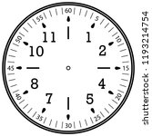 clock face for house  alarm ... | Shutterstock .eps vector #1193214754