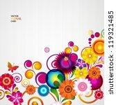 gift card. floral design... | Shutterstock .eps vector #119321485
