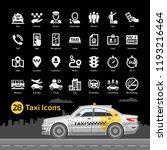 vector taxi cab car service... | Shutterstock .eps vector #1193216464