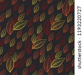 autumnl seamless pattern with... | Shutterstock .eps vector #1193220727