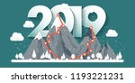 mountains in winter 2019 peak... | Shutterstock .eps vector #1193221231