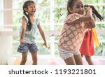 kids are playing and throwing... | Shutterstock . vector #1193221801