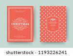 christmas greeting card design... | Shutterstock .eps vector #1193226241