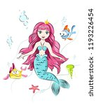 mermaid with  fish. | Shutterstock .eps vector #1193226454