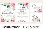 elegantl floral wedding... | Shutterstock .eps vector #1193226844