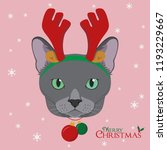 christmas greeting card.... | Shutterstock .eps vector #1193229667