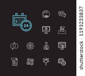 customer service icons set. 24... | Shutterstock .eps vector #1193233837