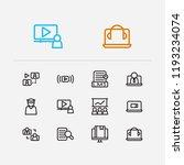 webinar icons set. development...