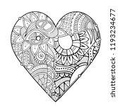 zentangle adult coloring book... | Shutterstock .eps vector #1193234677