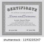 grey certificate of achievement ... | Shutterstock .eps vector #1193235247