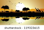 Beauty Silhouette Of Safari...