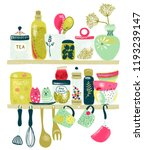 collection of decorative... | Shutterstock .eps vector #1193239147