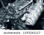 car engine intake side receiver ... | Shutterstock . vector #1193242117