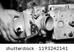 car engine intake side receiver ... | Shutterstock . vector #1193242141