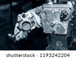 car engine intake side receiver ... | Shutterstock . vector #1193242204