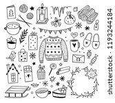 christmas graphics on white...   Shutterstock .eps vector #1193244184