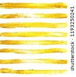 hand drawn golden paint texture.... | Shutterstock . vector #1193250241