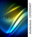 neon glowing wave  magic energy ... | Shutterstock .eps vector #1193255407