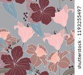 beautiful seamless floral...   Shutterstock .eps vector #1193255497