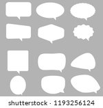 speech bubble icon on gray...