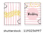 bridal shower set with dots and ... | Shutterstock .eps vector #1193256997