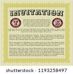 yellow retro invitation... | Shutterstock .eps vector #1193258497