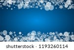 christmas frame with falling... | Shutterstock .eps vector #1193260114