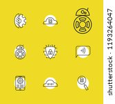 service icons set with cyber...