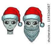 alien in santa claus hat  on...   Shutterstock .eps vector #1193266087