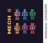 robots characters. battle...   Shutterstock .eps vector #1193266354