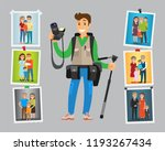 cameraman take orders on... | Shutterstock .eps vector #1193267434