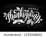 happy thanksgiving day with... | Shutterstock .eps vector #1193268601