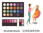 visage makeup of client woman... | Shutterstock .eps vector #1193269234