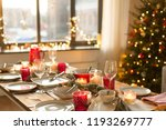 christmas  holidays and eating...   Shutterstock . vector #1193269777