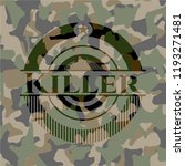 killer on camo texture | Shutterstock .eps vector #1193271481