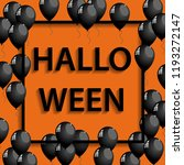 halloween frame with black... | Shutterstock . vector #1193272147