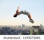 extreme sport  parkour and... | Shutterstock . vector #1193272681