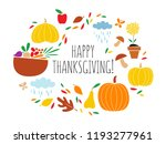 thanksgiving day greeting card | Shutterstock .eps vector #1193277961