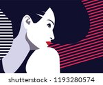 fashion woman in style pop art. ... | Shutterstock .eps vector #1193280574