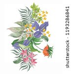 colorful floral collection with ... | Shutterstock . vector #1193286841
