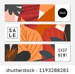autumn sale banner design.... | Shutterstock .eps vector #1193288281