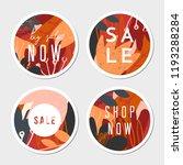 four autumn design round... | Shutterstock .eps vector #1193288284