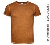 men cut brown t shirt isolated... | Shutterstock . vector #1193292367
