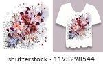 stylish  designer print on t... | Shutterstock . vector #1193298544